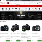Canon Store Pro Sale - Additional 15% Coupon Code Including Free Shipping