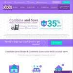 35% off + Free Wireless Alarm and Phone System When You Purchase Home & Content Insurance Combined @ Dodo Online