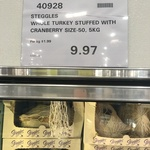 Steggles Whole Cranberry Stuffed Turkey 5kg $9.97 @ Costco Docklands VIC (Membership Required)