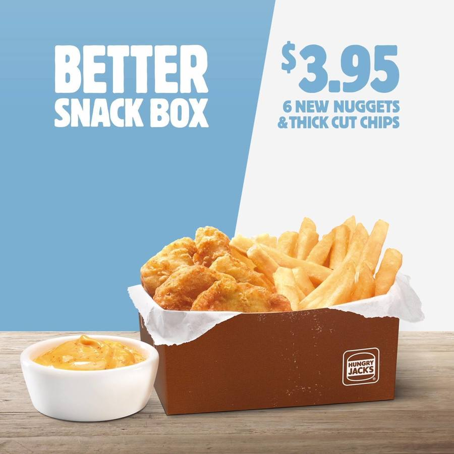 Hungry Jacks Better Snack Box: 6 Chicken Breast Nuggets