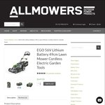 10% off at ALLMOWERS eg. EGO 56V Lithium Battery 49cm Lawn Mower - $584.10 with Coupon (Free Delivery Sydney Metro)