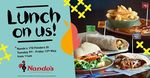 Free Lunch at Nando's 170 Flinders St, Melbourne CBD (May 9 - May 12)