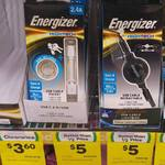 Energizer Lightning Pocket Cable $5 | Energizer Retractable Micro USB Cable $5 @ Woolworths (Bass Hill, NSW)