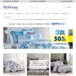 $10 Voucher Sitewide ($50 Minimum Spend) @ Myhouse Australia PLUS Free Shipping for Members - Bedroom, Living, Home Decor