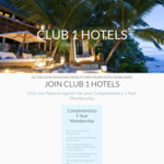 FREE Club 1 Hotels Membership + $25 Hotel Booking Credit