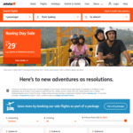Jetstar Boxing Day Sale: One Way Domestic from $29, One Way International from $99