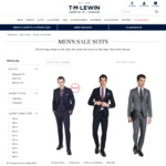 Suit Jackets $99 (70%+ off) Delivered @ T.M.Lewin