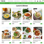 60% off All Lunch, Dinner, Double Serves and Salads on THR1VE Min Order $80 after Discount