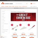 Cookware Sale - Up to 75% off Selected Items Plus Free Shipping @ Cookware Brands