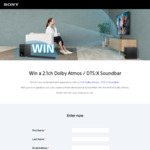 Win a Sony 2.1ch Dolby Atmos/DTS:X Soundbar Worth $799 from Sony