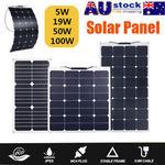 18V 19W, 50W and 100W Flexible Solar Panels All $9.99 + Free Shipping @ eBay Topfaithshop