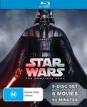 Star Wars Complete Saga (Digistack) 9 Disc Blu-Ray $50.40 Delivered @ Amazon AU