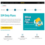 Optus - SIM Only Plans - $45/50GB Data, $55/80GB Data Per Month (12 Month Contract)