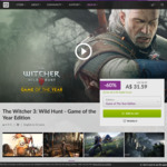 [PC] The Witcher 3: Wild Hunt - Game of The Year Edition AU $31.59 @ GOG.com