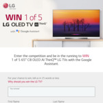 """Win 1 of 5 LG 65"""" C8 OLED AI Thinq TVs Worth $5,299 Each from LG Electronics"""