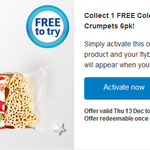 Free Coles Christmas Tree Crumpets 6pk via Flybuys