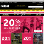 Minimum 20% off RRP Storewide @ rebel (In Store & Online)
