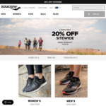 Afterpay Day Sale - 20% off Sitewide (Includes Already Reduced Sale Products) @ Saucony