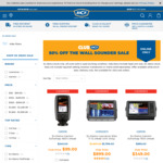 50% off Ex Demo Wall Sounder/Fish Finders @ BCF