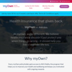 Myown Health Insurance 6 Weeks Cash Back after 2 Months