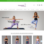 Yoga Day Deal: 25% off Any 2 Items (Free Shipping over $99) @ YogaDoll