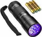 [Amazon Prime] TaoTronics Black Light, UV Blacklight Flashlights, 12 LEDs 395nm $9.74 Delivered @ SunValley Amazon AU