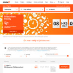 Jetstar O/W Friday Frenzy - Adelaide to Melbourne (AVV) $37, Mel (MEL) to Syd $49, and Syd to Hobart (or Reverse) from $61