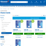 15% off iTunes ($30 & $50 Cards) @ Officeworks