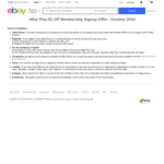 1 Year eBay Plus Membership $1 (Normally $49) @ eBay