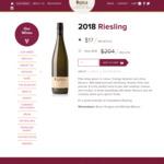 Majella 2018 Riesling $130 a Case Delivered @ Majella Wines (RRP = $204)