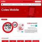 Coles Prepaid Starter Kit - 25GB (3GB + 25GB Bonus on Activation, Bonus Ends 30/03/2020) - $9 (Was $20) @ Coles
