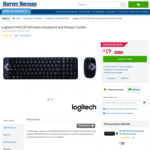 Logitech MK220 Wireless Keyboard and Mouse Combo $19 (RRP $39) at Harvey Norman