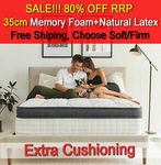 35cm Memory Latex Euro Top Pocket Spring Mattress QB $379, KB $439, DB $369, KB $339, SB $299, Free Metro Del @ Luxury Flex eBay