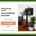 $100 off @ Zen Space Desks (Email Sign up)