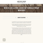 Win a Tailored Single Malt Whisky Prize Pack Worth $4,179 from Archie Rose