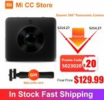 Xiaomi Mijia 4K 360 Panorama Camera + Xiaomi Mijia Selfie Stick $142.98 US (~$219.73 AU) Delivered @ Mi CC Store AliExpress