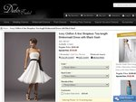 $20 off-Ivory Chiffon A-Line Strapless Tea-Length Bridesmaid Dress for $113 + Free Shipping