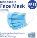 5PK Disposable 3-Ply Face Masks $0.01 With Any Purchase + $8.90 Shipping @ Etel