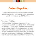 5x Rewards Points + 1,000 Rewards Points @ BWS Online (No Minimum Spend, Activation Required)