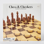Wooden Chess and Checkers Set $10 @ Target