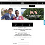 Win a $3,000 Wedding Party Package from yd.