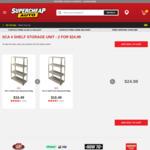 SCA 4 Shelf Galvanised Storage Unit - 2 for $24.99 @ Supercheap Auto