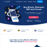 Luno: Get $30 in Bitcoin for Free When You Buy $99 Worth of Any Crypto - Limited to First 50 People (20 Left)