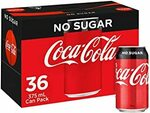 [Prime] Coca-Cola Soft Drink Classic/Diet 36x 375ml $19.98 ($17.23 S&S) @ Amazon AU
