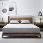 Ironline Metal & Wood Platform Bed Frame S - $194.65, D - $260.10, Q - $271.15, K- $305.15 Delivered + More @ Zinus Amazon AU