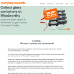 One Container Credit $20 Spend | 20+ Container Credits Free Containers @ Woolworths