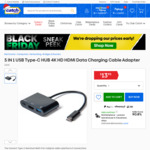 5 in 1 USB Type-C Hub (4K HDMI, USB-A & C Adapter) $13.95 Shipped @ Laser via Catch