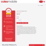 Coles Mobile $120 Prepaid SIM (60GB, 365 Days, International Calls, Data Rollover, Optus 4G Plus) $99 Delivered @ Coles Mobile