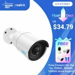 Reolink RLC-410 5MP PoE Camera Outdoor/Indoor IP Security Camera US$38.27(Was US$58.29) ~A$50.01 @ Reolink AliExpress