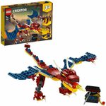 LEGO Creator 3-in-1 Fire Dragon 31102 Building Kit $15 (50% off) + Delivery ($0 with Prime / $39 Spend) @ Amazon AU